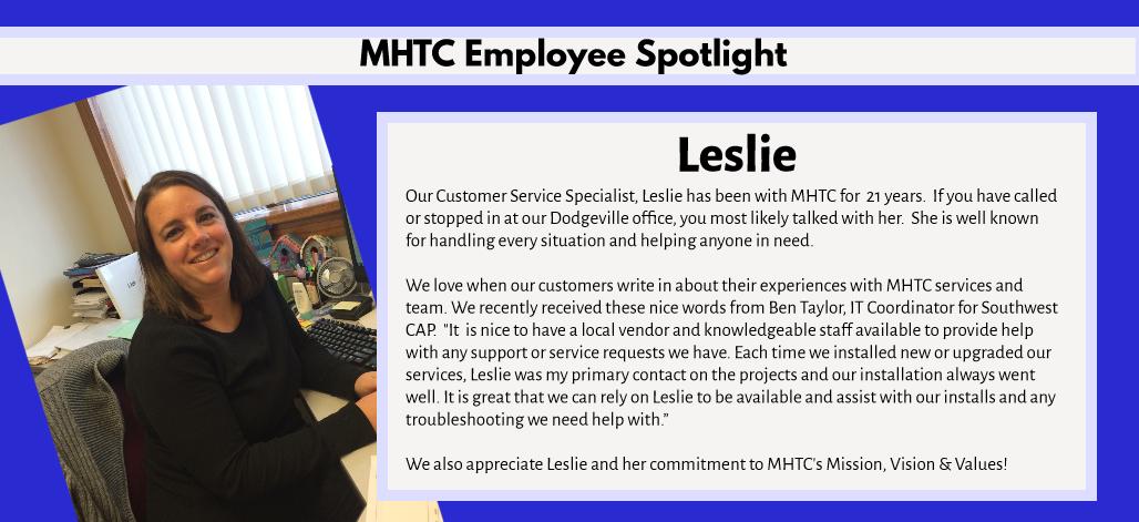 Employee Leslie spotlight